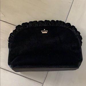 KATE spade black velvet clutch